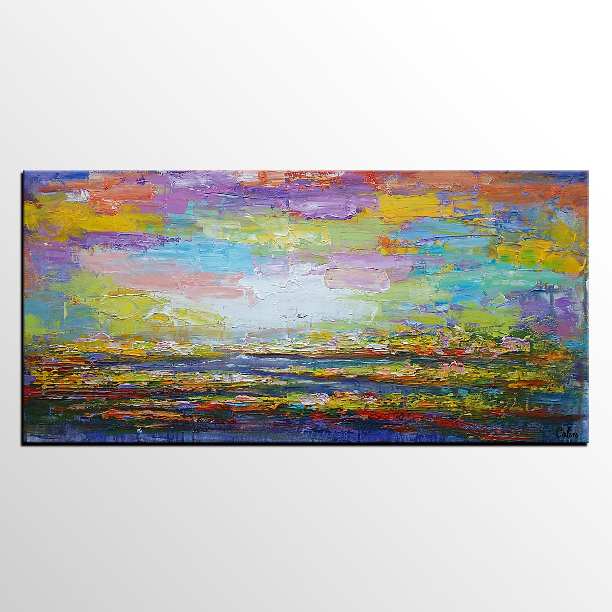 Canvas Wall Art, Abstract Landscape Painting, Large Art, Canvas Art, Wall Art, Original Artwork, Canvas Painting, Abstract Art 154