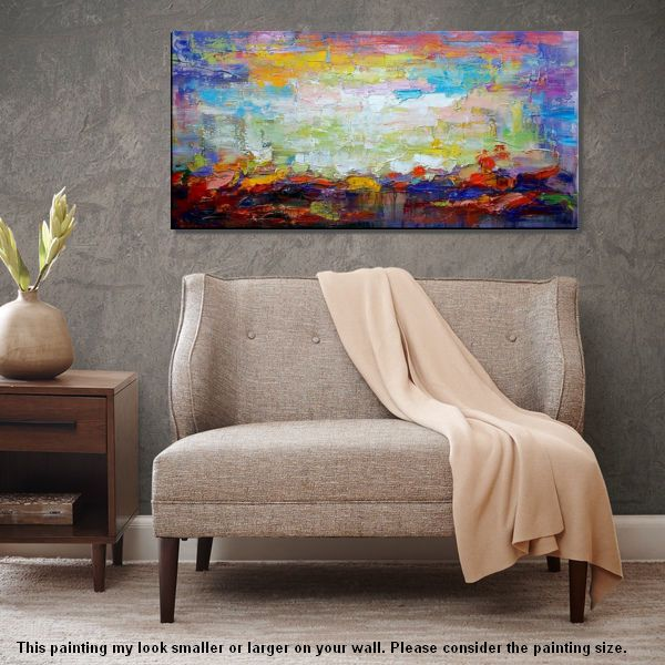 Large Painting, Abstract Art, Original Wall Art, Landscape Painting, Large Art, Canvas Art, Wall Art, Original Artwork, Canvas Painting, Contemporary Art 157