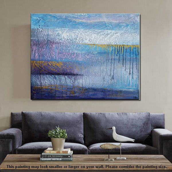 Home Art, Original Painting, Canvas Art, Wa...