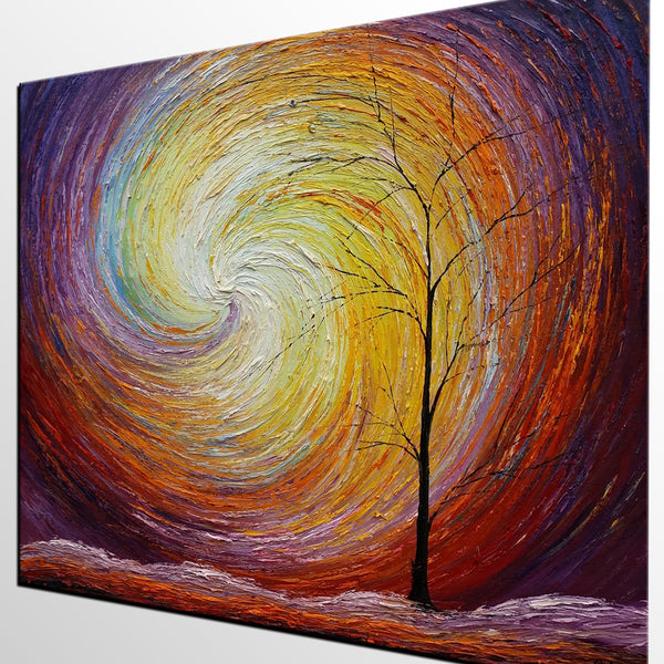 Landscape Painting, Custom Large Heavy Texture Painting, Modern Artwork, Canvas Painting, Modern Art, Oil Painting, Tree Painting 205 - artworkcanvas