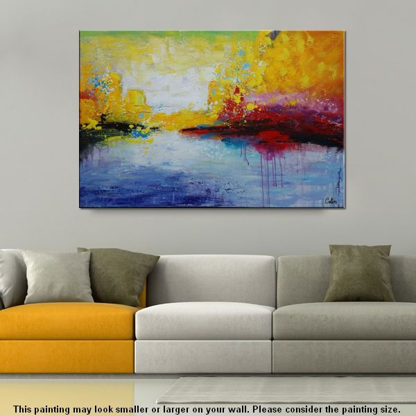 Canvas Wall Art, Abstract Painting, Large A...