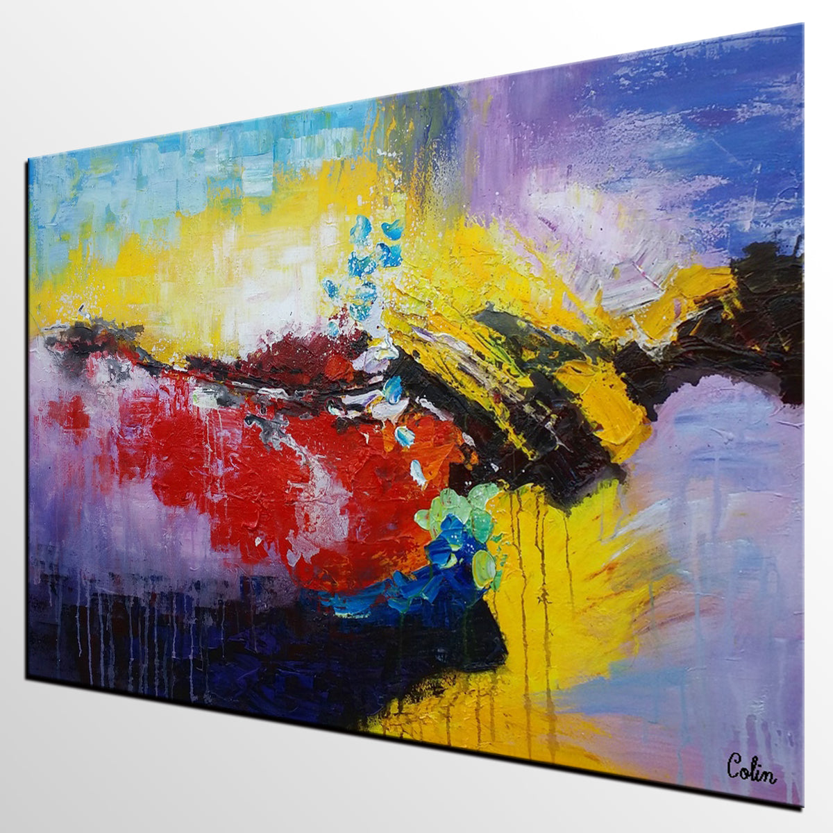 Wall Art, Abstract Landscape Painting, Large Painting, Canvas Art, Wall Art, Abstract Artwork, Canvas Painting, Contemporary Painting 207