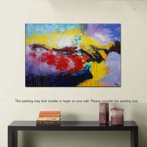 Wall Art, Abstract Landscape Painting, Large Painting, Canvas Art ...