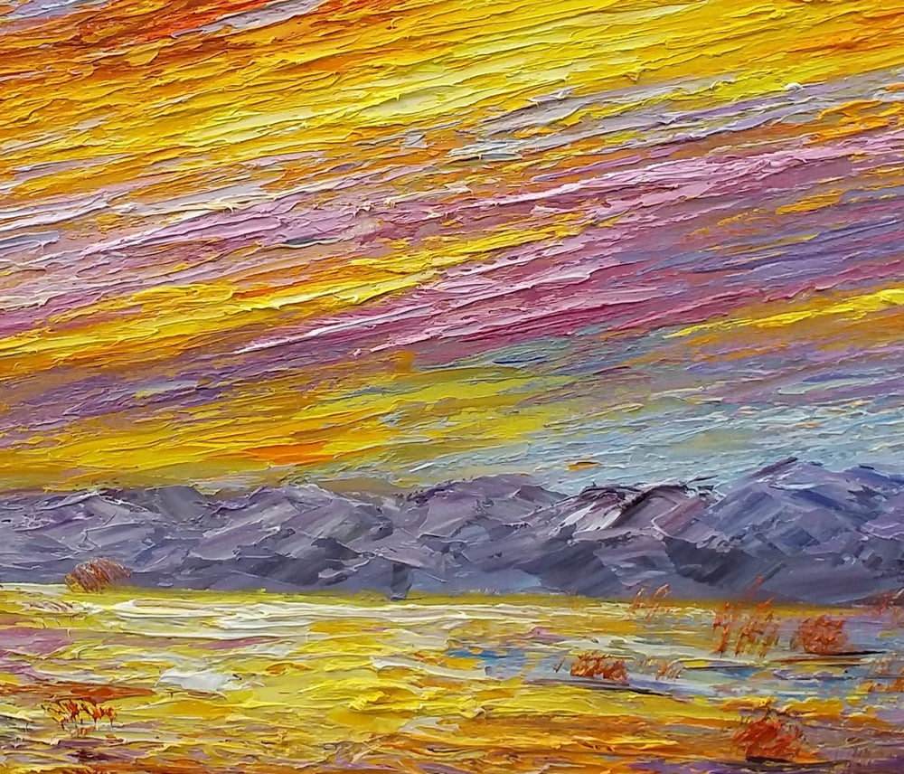 Heavy Texture Art, Landscape Painting, Abstract Artwork, Canvas Painting, Painting for Sale