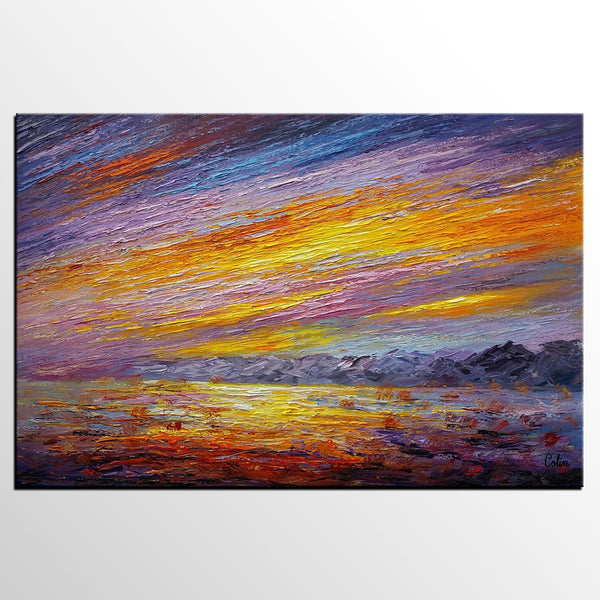 Canvas Painting, Heavy Texture Art, Landscape Painting, Abstract Artwork, Painting for Sale