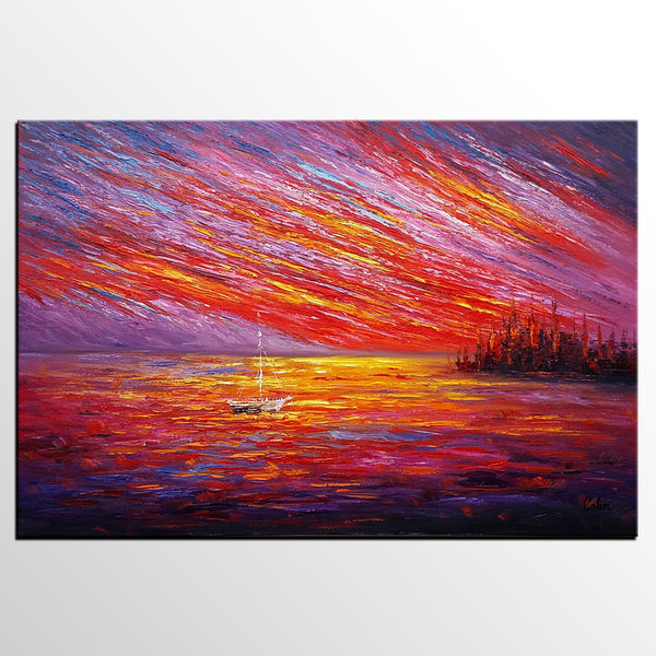 Oil Painting, Original Wall Art, Landscape Painting, Custom Large Art, Canvas Art, Wall Art, Original Artwork, Canvas Painting, Modern Art, Abstract Art