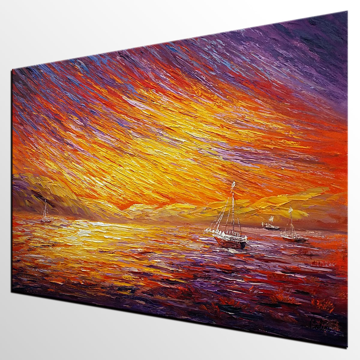 Canvas Art, Original Wall Art, Landscape Painting, Large Art, Abstract Art, Wall Art, Original Artwork, Canvas Painting, Oil Painting 214