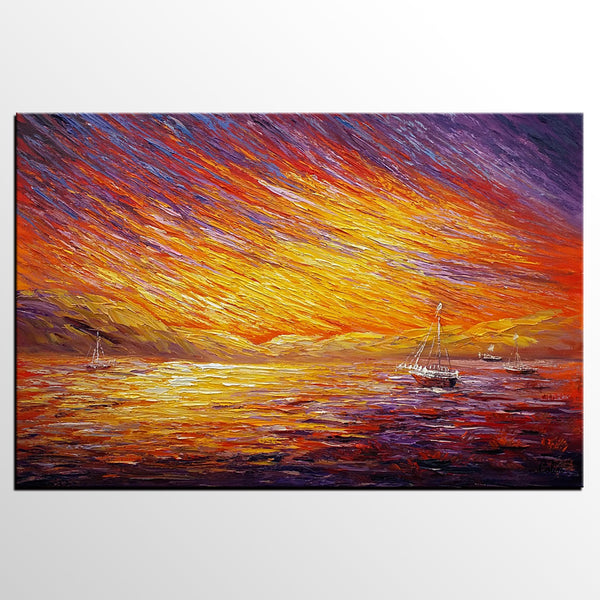 Canvas Art, Original Wall Art, Landscape Painting, Abstract Art, Custom Extra Large Oil Painting - artworkcanvas