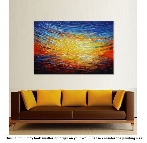 Home Art, Abstract Painting, Original Wall Art, Landscape Painting, Large Art, Canvas Art, Wall Art, Canvas Painting, Oil Painting 216 - artworkcanvas