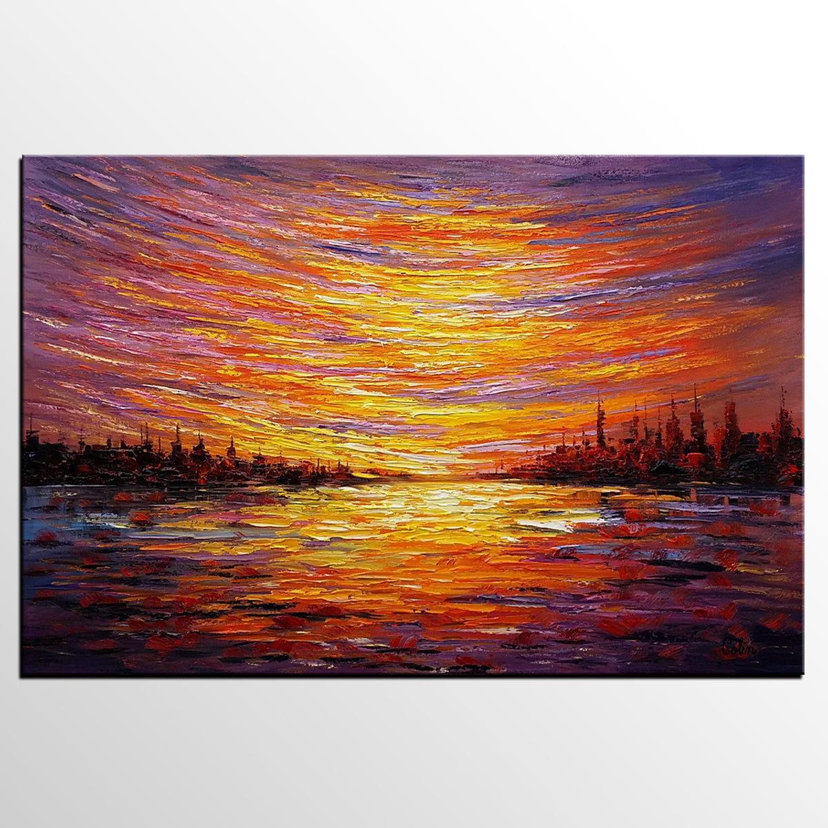 Landscape Painting, Large Wall Art, Canvas Art, Abstract Art, Original Artwork, Canvas Painting, Modern Art, Oil Painting 220