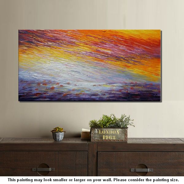 Landscape Painting, Wall Art, Abstract Artwork, Canvas Painting