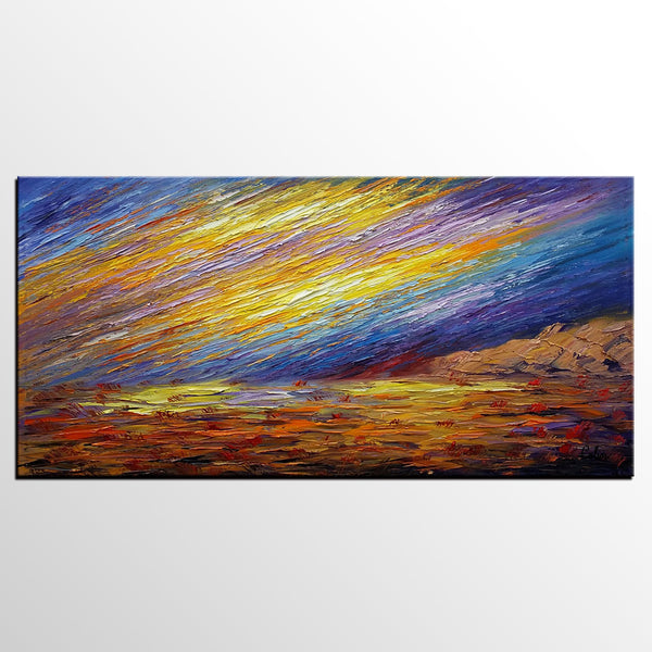 Landscape Painting, Oil Painting, Abstract Wall Art, Original Artwork - artworkcanvas