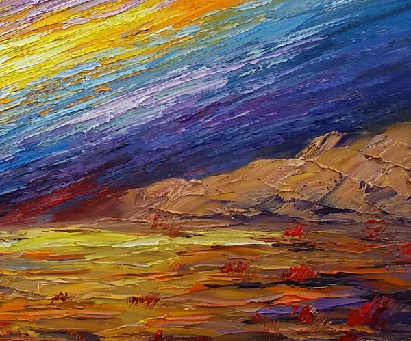 Landscape Painting, Oil Painting, Abstract Wall Art, Original Artwork-artworkcanvas