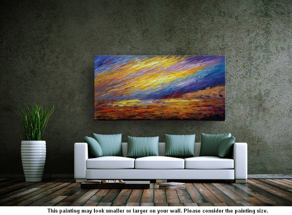 Landscape Painting, Oil Painting, Abstract Wall Art, Original Artwork