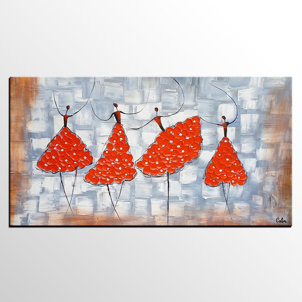 Ballet Dancer Painting, Contemporary Art, Canvas Painting, Abstract Painting