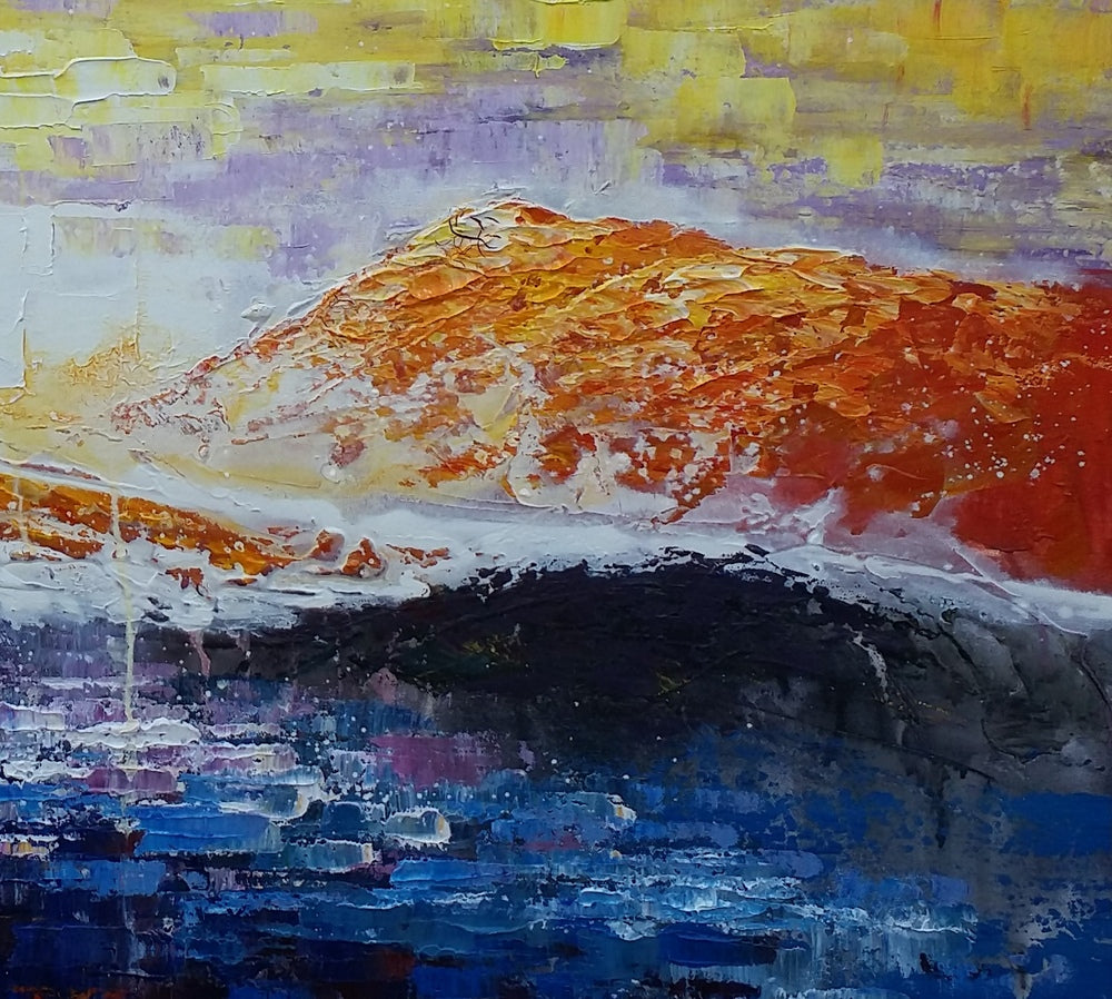 Canvas Painting, Original Wall Art, Mountain Landscape Painting, Abstract Art, Canvas Art, Wall Art, Large Artwork, Canvas Painting, Acrylic Art 232