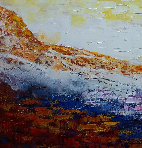 Canvas Painting, Original Wall Art, Mountain Landscape Painting, Abstract Art, Canvas Art, Wall Art, Large Artwork, Canvas Painting, Acrylic Art 232 - artworkcanvas