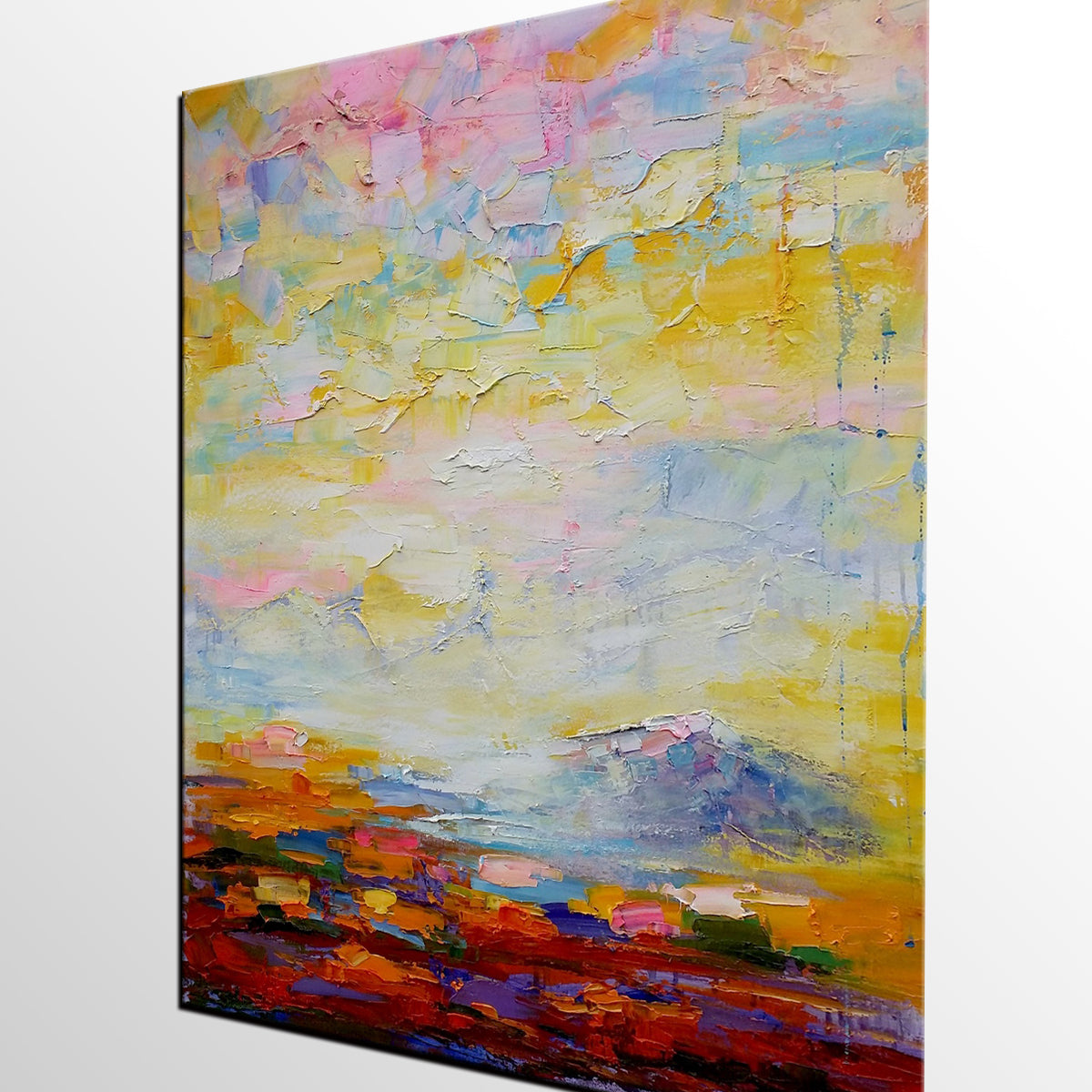 Original Wall Art, Abstract Landscape Painting, Canvas Wall Art, Abstract Artwork, Oil Painting