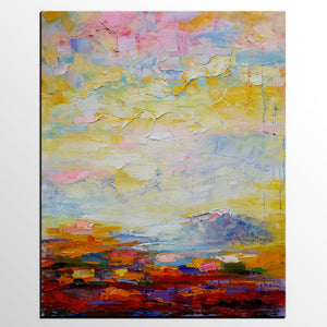 Original Wall Art, Abstract Landscape Painting, Canvas Wall Art, Abstract Artwork, Oil Painting - artworkcanvas