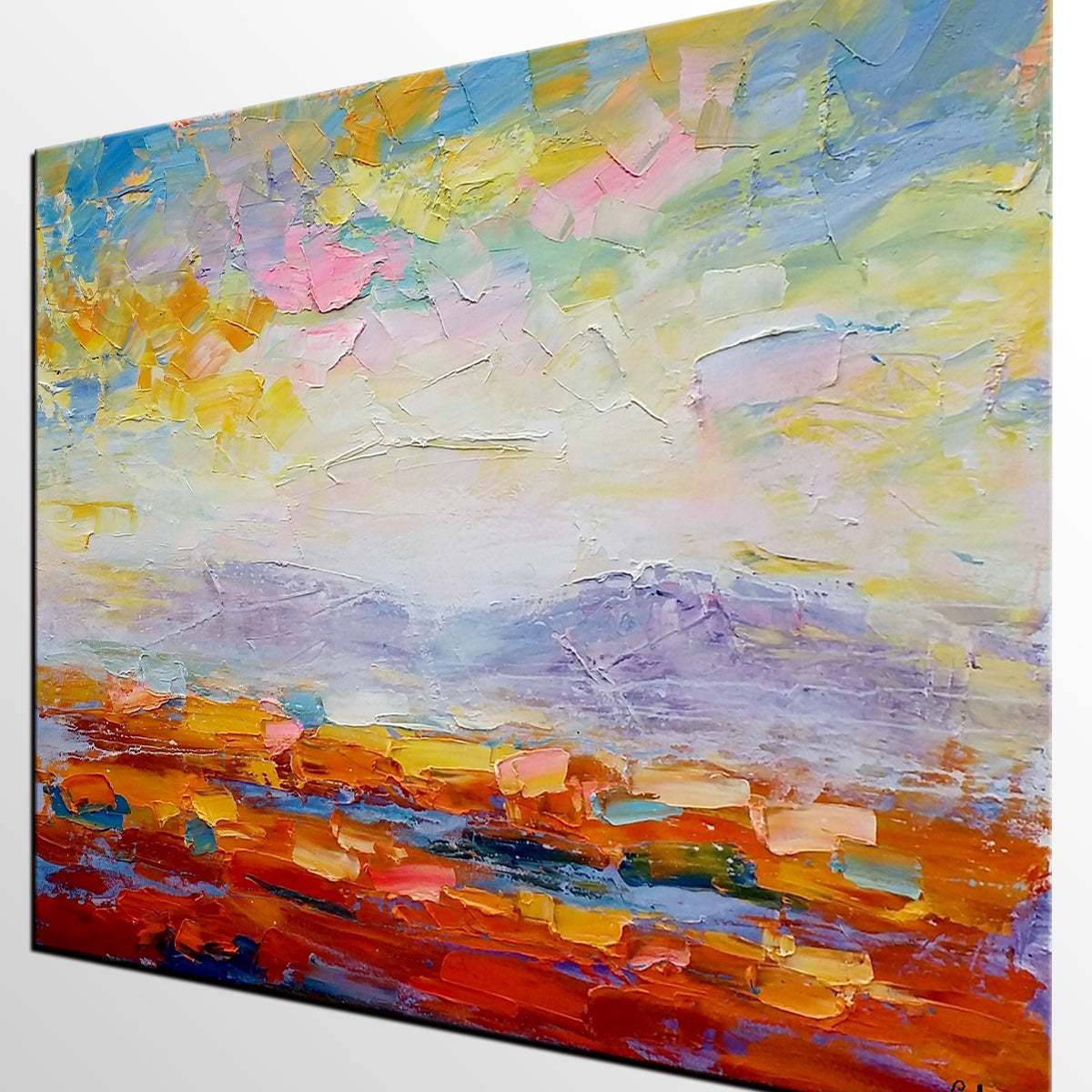 Abstract Painting, Original Wall Art, Abstract Landscape Art, Large Art, Canvas Art, Wall Art, Oil Painting, Canvas Painting, Oil Painting 242