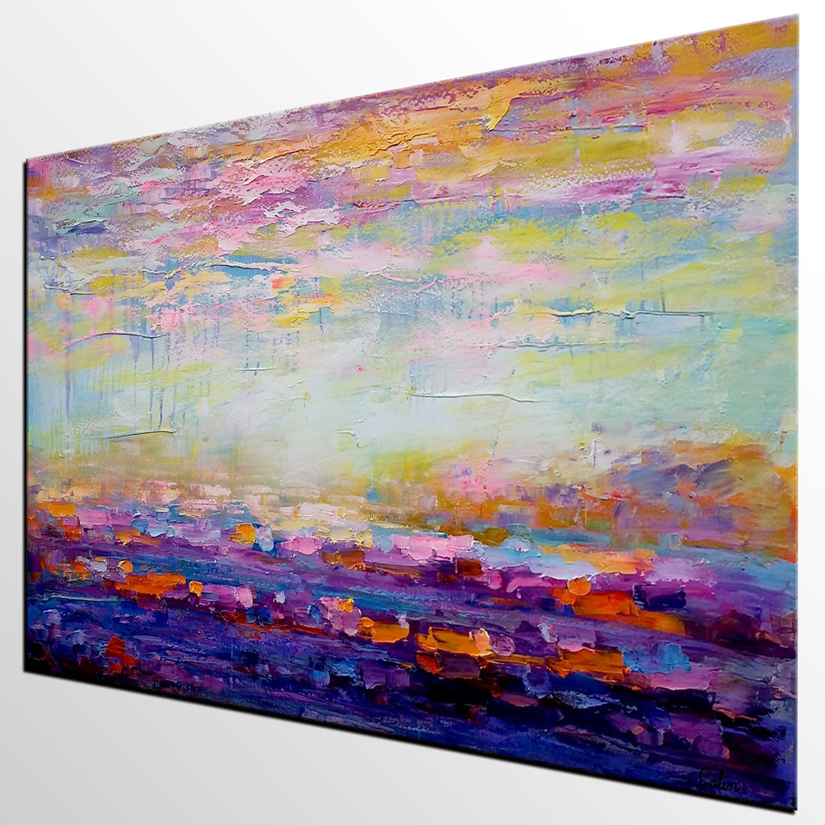 Landscape Painting, Abstract Art, Large Artwork, Canvas Art, Wall Art, Original Painting, Canvas Painting, Home Art 244
