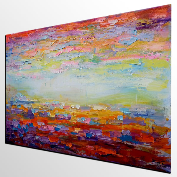 Canvas Painting, Living Room Wall Art, Abstract Landscape Painting, Large Art, Canvas Art, Wall Art, Abstract Artwork, Oil on Canvas 254