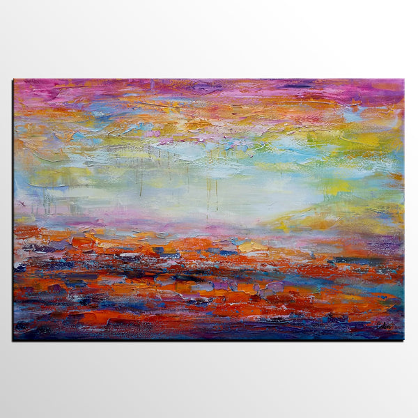 Canvas Wall Art, Abstract Landscape Painting, Large Art, Canvas Art, Abstract Art, Original Artwork, Canvas Painting, Oil Painting 255