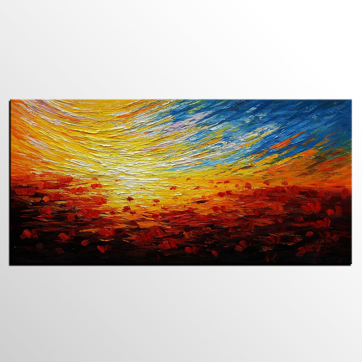 Canvas Wall Art, Abstract Landscape Paintin...