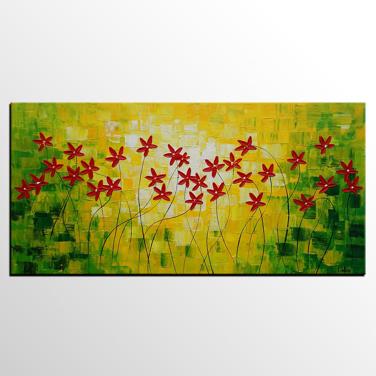 Abstract Painting, Abstract Wall Art, Flowe...