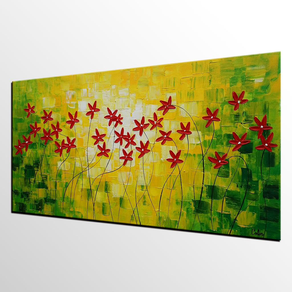 Abstract Painting, Abstract Wall Art, Flower Painting, Wall Decor ...