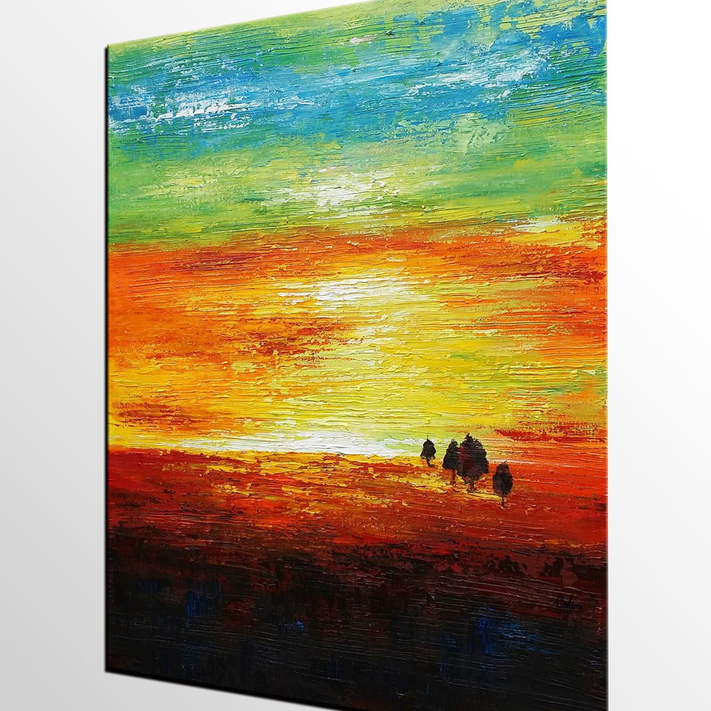 Canvas Painting, Abstract Wall Art, Abstract Landscape Painting ...