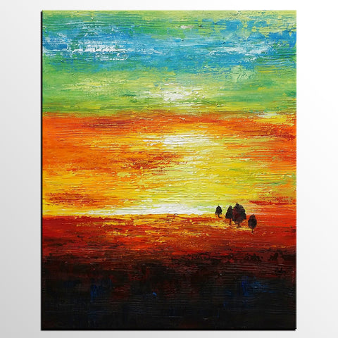 Canvas Painting, Abstract Wall Art, Abstract Landscape Painting, Canvas Art, Wall Art, Modern Artwork, Canvas Painting 272