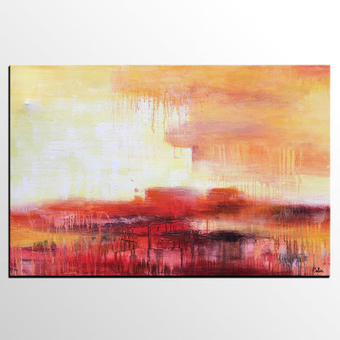 Canvas Art, Abstract Landscape Painting, Large Art, Canvas Art, Wall Art, Contemporary Artwork, Canvas Painting 281
