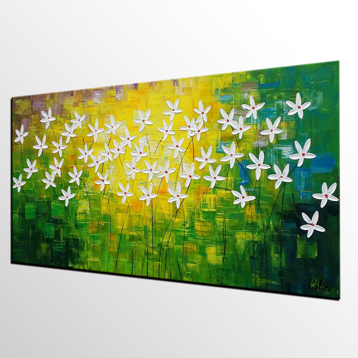 Modern Kitchen Paintings abstract art, flowe painting, kitchen wall art, abstract painting
