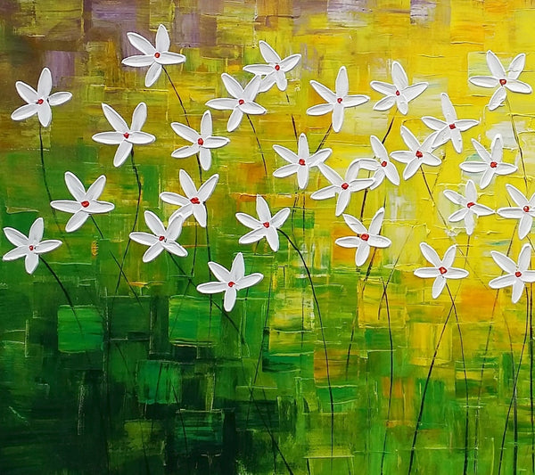 Abstract Art, Flowe Painting, Kitchen Wall Art, Abstract Painting, Canvas Art, Wall Art, Canvas Artwork, Canvas Painting 288