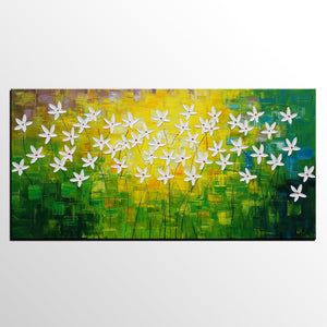 Abstract Art, Flowe Painting, Kitchen Wall Art, Abstract Painting, Canvas Art, Wall Art, Canvas Artwork, Canvas Painting 288 - artworkcanvas