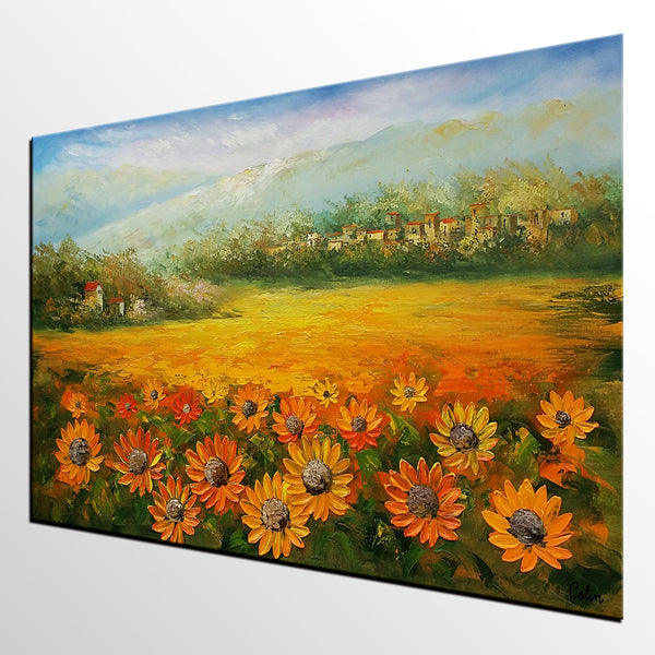 Canvas Art, Abstract Painting, Sunflower Painting, Original Painting, Landscape Painting, Large Art, Canvas Art, Wall Art, Original Artwork 289 - artworkcanvas