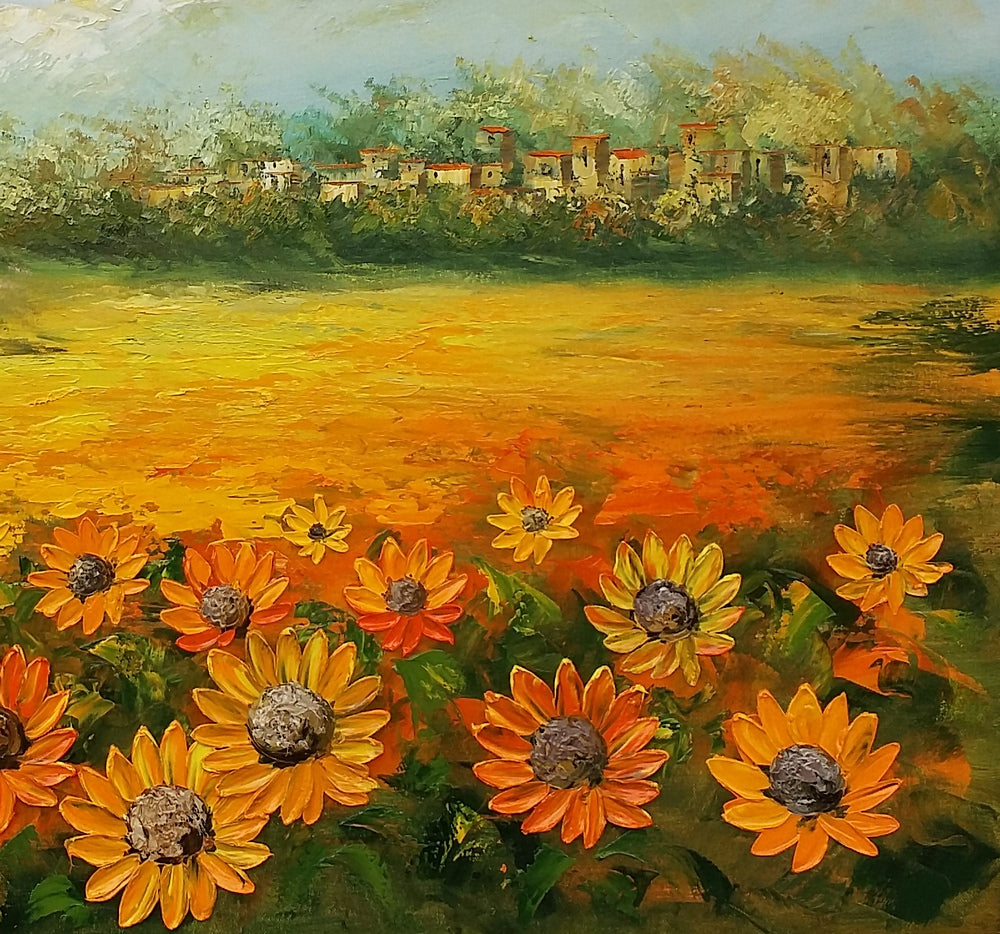 Canvas Art, Abstract Painting, Sunflower Painting, Original Painting, Landscape Painting, Large Art, Canvas Art, Wall Art, Original Artwork 289