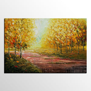 Landscape Art, Autumn Tree Painting, Original Wall Art, Oil Painting, Large Art, Canvas Art, Wall Art, Canvas Artwork 306