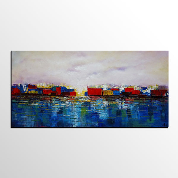 Original Art, Abstract Painting, Cityscape Art, Landscape Painting, Large Art, Canvas Art, Wall Art, Contemporary Artwork, Canvas Painting, 336