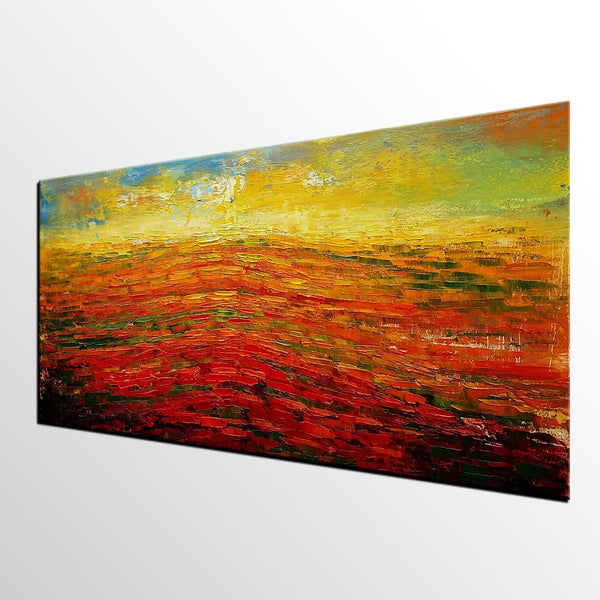 Large Painting, Abstract Wall Art, Abstract Landscape Painting, Large Art, Canvas Art, Wall Art, Original Oil Painting, 337 - artworkcanvas
