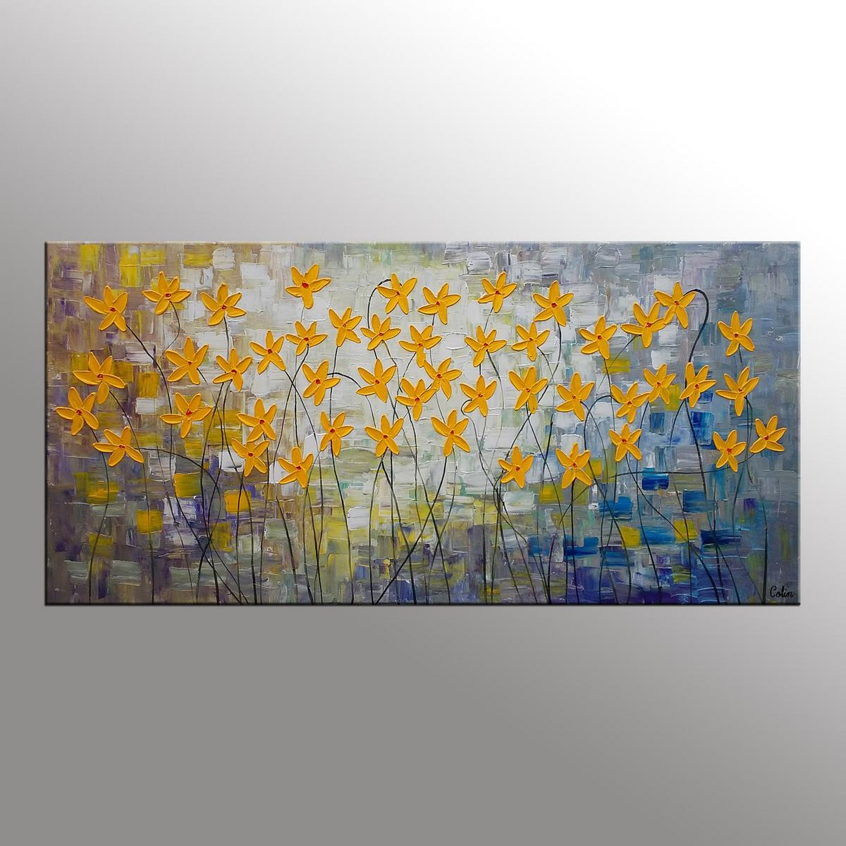 Canvas Art, Flower Painting, Original Wall Art, Bedroom Painting, Large Art, Canvas Art, Wall Art, Canvas Painting, 344