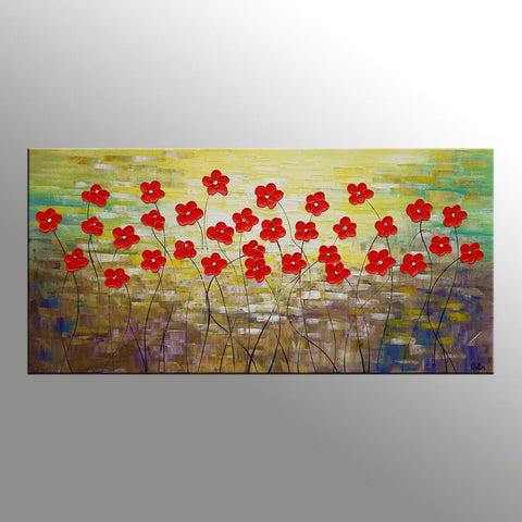 Spring Flower Painting, Original Wall Art, Art Painting, Large Art, Canvas Art, Wall Art, Original Artwork, Canvas Painting, 345 - artworkcanvas