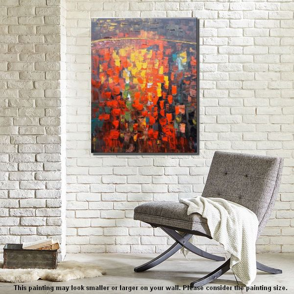 Canvas Art, Heavy Texture Painting, Impasto Wall Art, Large Art, Canvas Art, Wall Art, Modern Artwork, Canvas Painting, 346