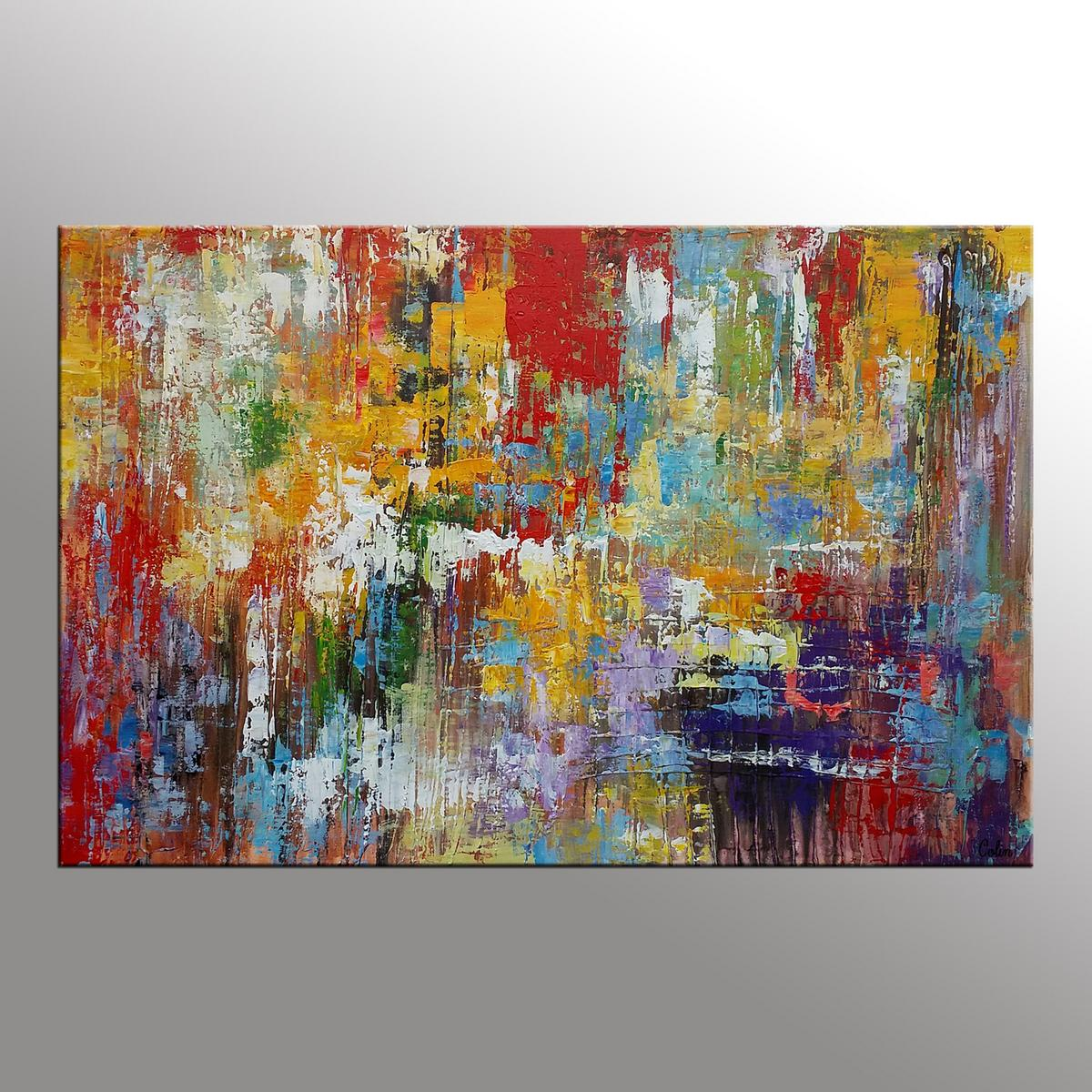 Original Wall Art, Abstract Painting, Large...