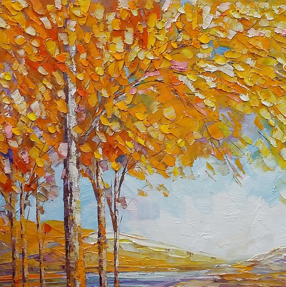 Landscape Painting, Oil Painting, Abstract Painting, Large Art, Canvas Art, Bedroom Wall Art, Canvas Painting, Autumn Tree Painting