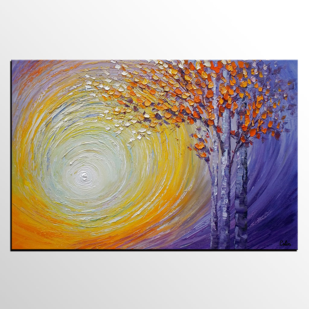 Abstract Landscape Painting, Tree Painting, Oil Painting, Abstract ...