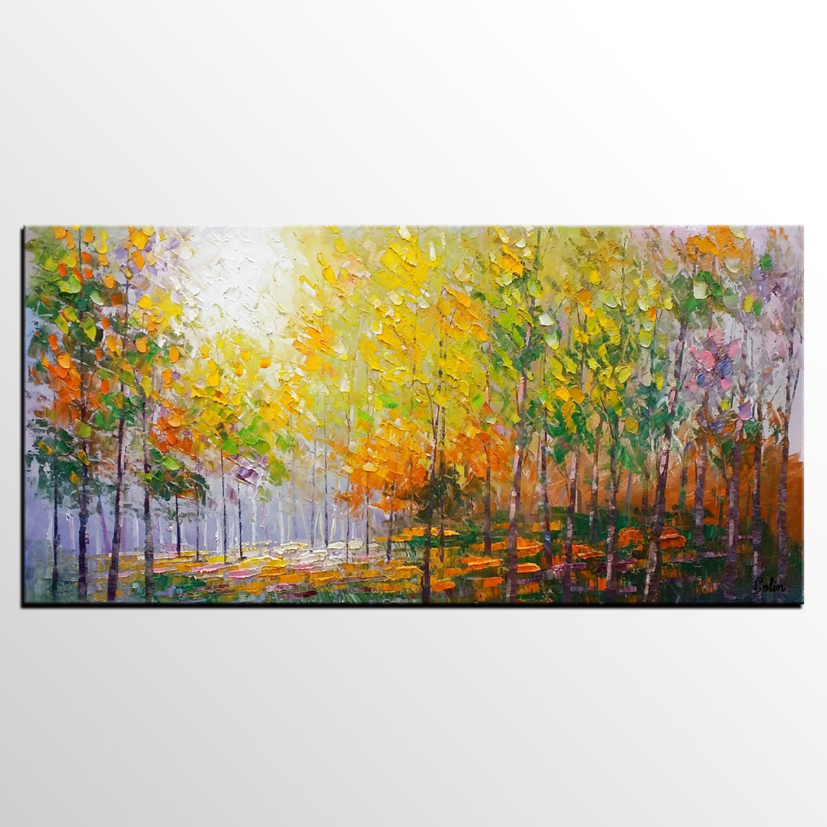 Living Room Wall Art, Landscape Painting, O...