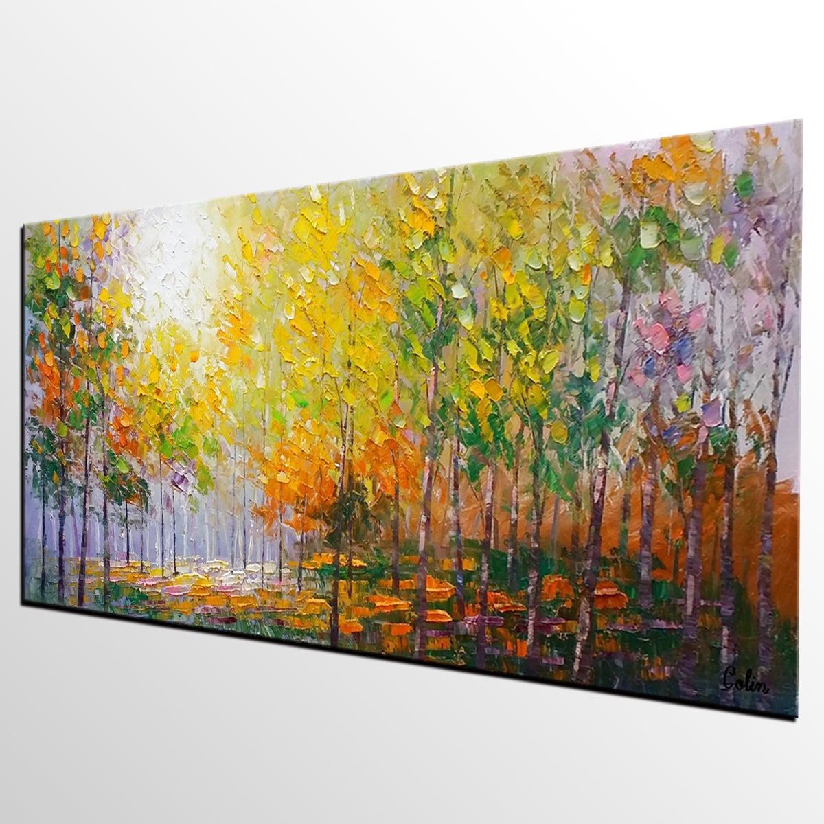 Living Room Wall Art, Landscape Painting, Oil Painting, Abstract Painting, Large Art, Canvas Art, Modern Art, Canvas Painting,
