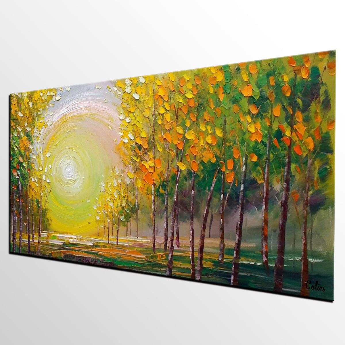 Oil painting living room wall art landscape painting abstract paint artworkcanvas for Oil painting for living room